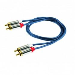 Audio kábel, 2 RCA kovová...